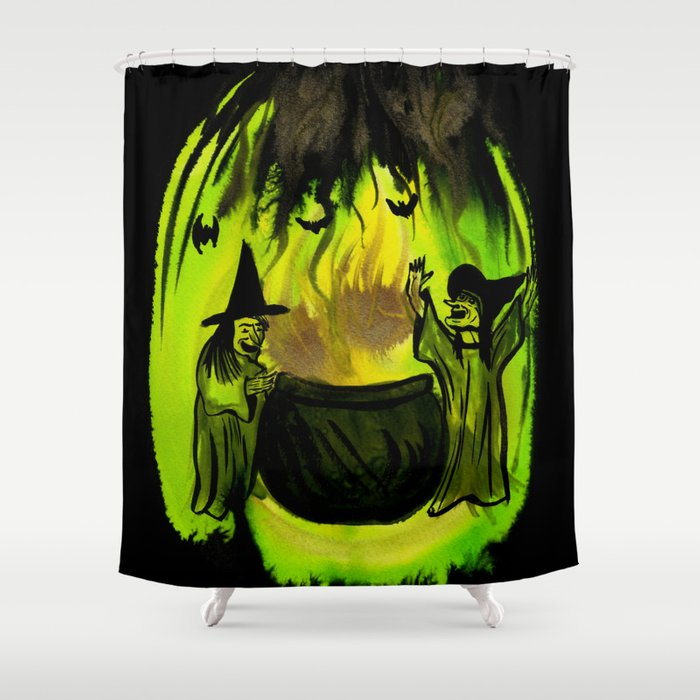Witches Brew Shower Curtain By Howgroenwasmyvalley