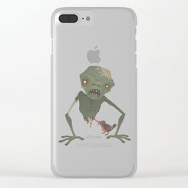 Sickly Zombie Clear iPhone Case
