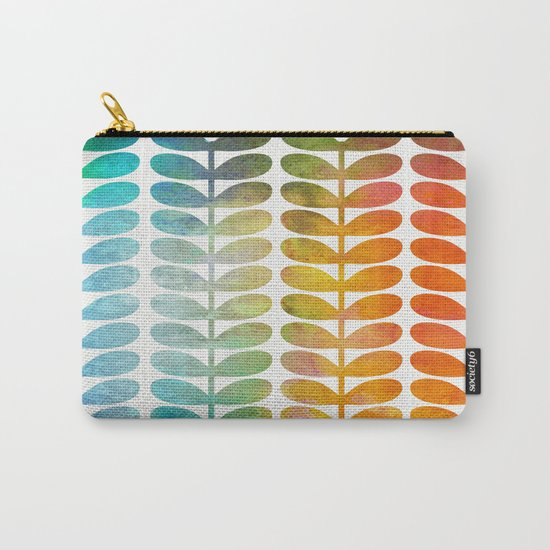 Colorful Leaves from Blue to Orange Carry-All Pouch