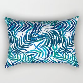 Watercolor floral pattern with palm leaves Rectangular Pillow
