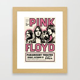 PinkFloyd Meddle Concert Tour 1971 (digitalized) Framed Art Print