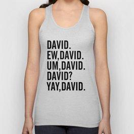 David Rose Funny Bella Canvas Shirt, Schitt's Creek Alexis QuoteS Unisex Tank Top