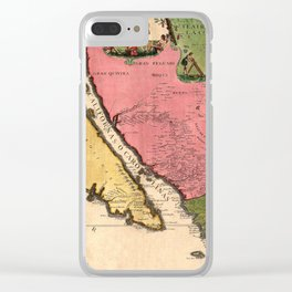 Map Of California 1720 Clear iPhone Case