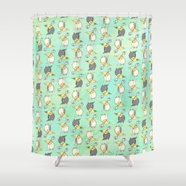 Confused Cockatiel - Pattern Shower Curtain