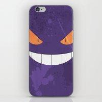 gengar iPhone & iPod Skins featuring Minimalist Gengar by mistergookey