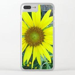 Stunning Sunflower Clear iPhone Case