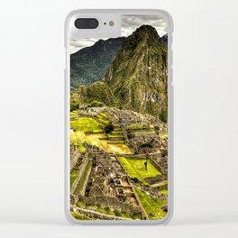 Machu Picchu in Hi-Res HDR landscape photo Clear iPhone Case
