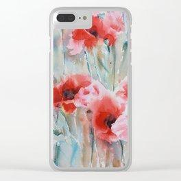 Poppy Season Clear iPhone Case