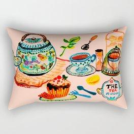 The tea room, Afternoon Tea Rectangular Pillow