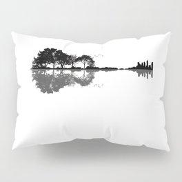 Acoustic Guitar Forest Nature Reflection Musician Pillow Sham