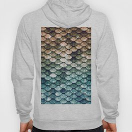 Mermaid Tail Teal Ocean Hoody