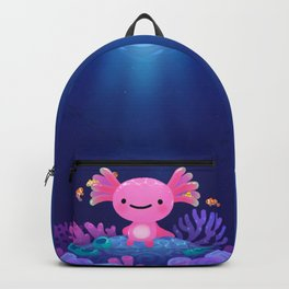 Coral axolotl Backpack
