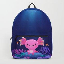 Coral axolotl Backpack
