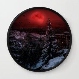 Dark Winter Escape Wall Clock