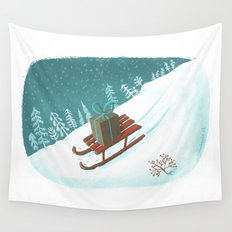 sled post Wall Tapestry
