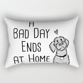 A Bad Day Ends at Home Rectangular Pillow
