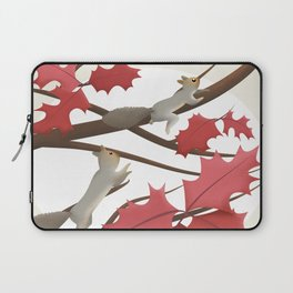 Autumn, squirrels and red leaves Laptop Sleeve