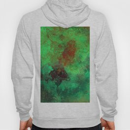 Isolation - Abstract, textured painting Hoody