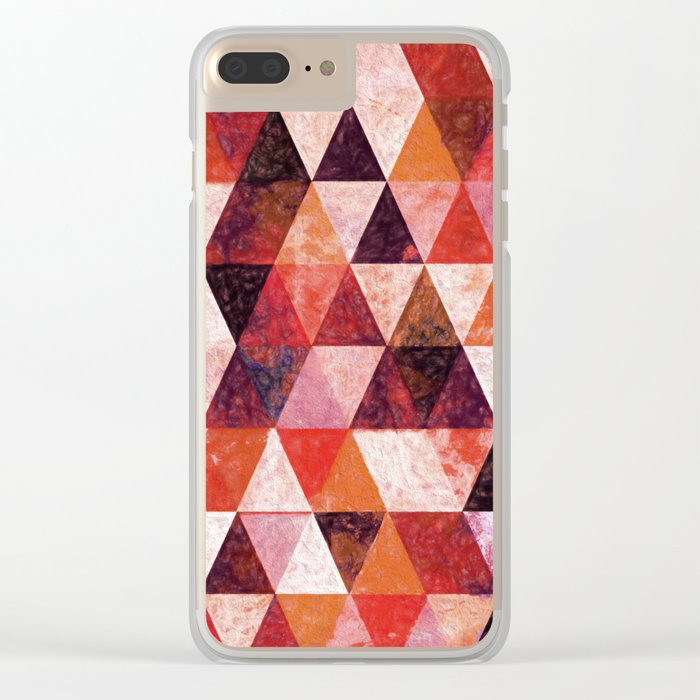 Abstract #816 Clear iPhone Case