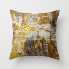 Abstract 20 - Study In Bronze Throw Pillow