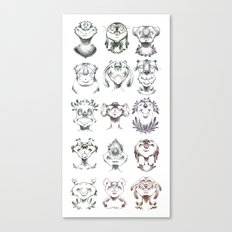 Monster Heads Canvas Print