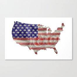 USA - Retro car for a Country Cruise Canvas Print