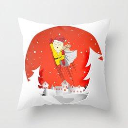 The Saitama Claus Throw Pillow