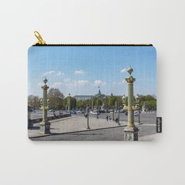 Place de la Concorde with great palace in background - Paris Carry-All Pouch