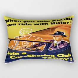 Vintage poster - Car-Sharing Club Rectangular Pillow