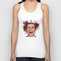 american psycho Tank Tops featuring American Psycho by mMel