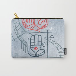 Religious christian symbols and phrase Carry-All Pouch