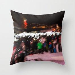 Torchlight descent Throw Pillow