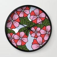 scandinavian Wall Clocks featuring Scandinavian Garden by She's That Wallflower