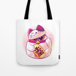 Shy Lucky Cat Tote Bag