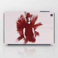 sam winchester iPad Cases featuring Watercolor Sam Winchester by fairandbright
