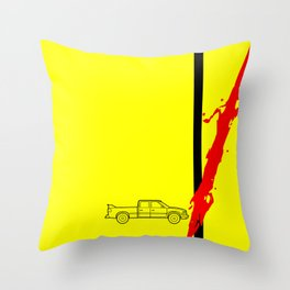 Pussy Wagon Throw Pillow