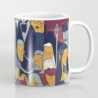 return Mugs featuring The Return of the King by Ale Giorgini