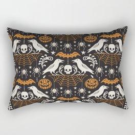 All Hallows' Eve - Black Orange Halloween Rectangular Pillow