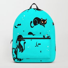 Scary Cats Halloween Pattern Cat Owners Gift Backpack