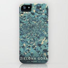 Zielona Gora, Poland - Cream Blue iPhone Case