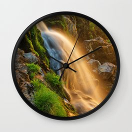 Glowing Loup of Fintry Waterfall Wall Clock