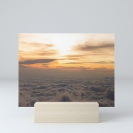 lovely view of the sun and the clouds  Mini Art Print