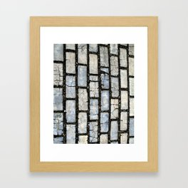 Blue Street Grid Framed Art Print