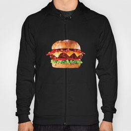 Geometric Bacon Cheeseburger Hoody