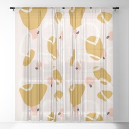 Abstract Fall III #society6 #abstractart Sheer Curtain