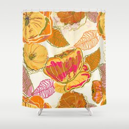Fall Floral #pattern #floral Shower Curtain