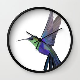 Hummingbird Lowpoly Art Illustration Wall Clock