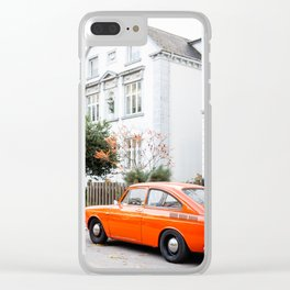 Car and orange Clear iPhone Case