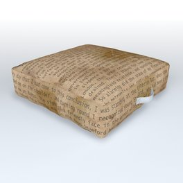 My Dear Watson Outdoor Floor Cushion