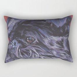 Brussels Griffon belge dog art portrait from an original painting by L.A.Shepard Rectangular Pillow